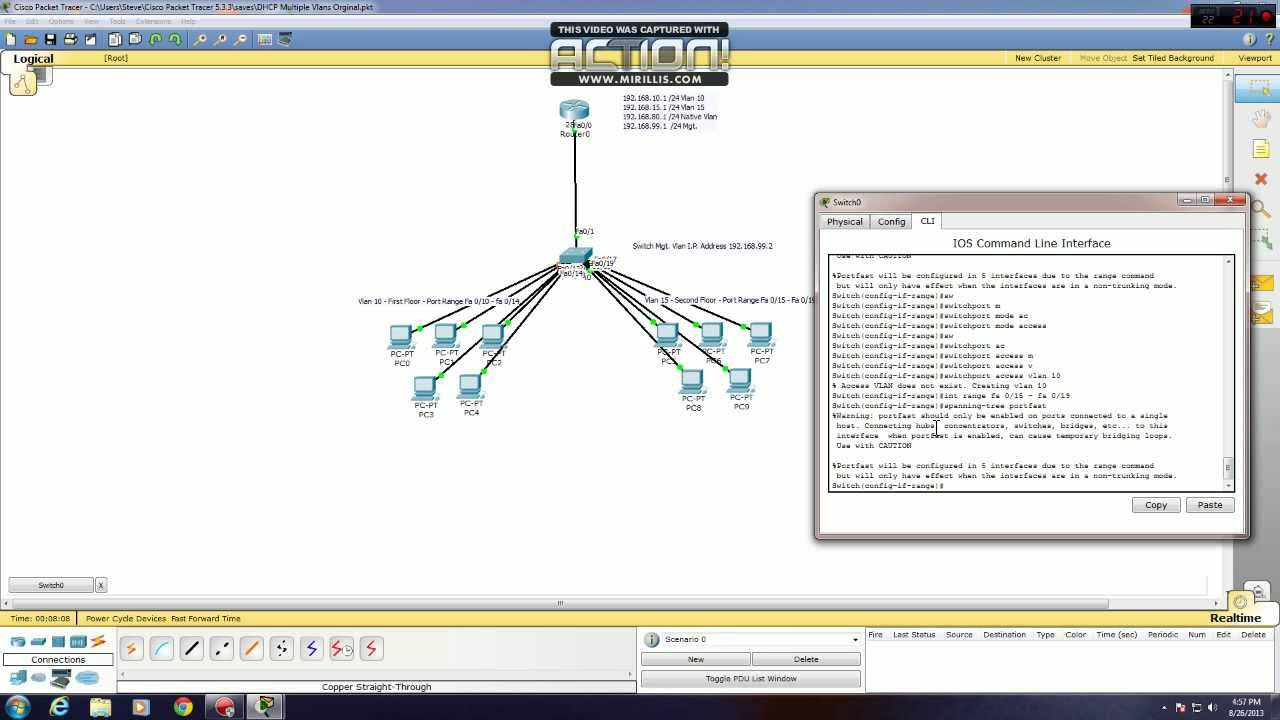 Create dhcp scope for vlan download