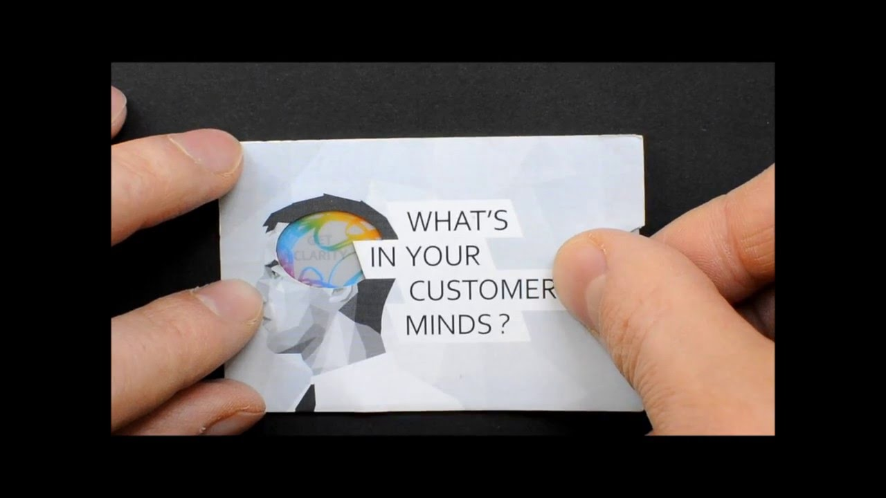 Innovative and Creative Business Card by IntoTheMinds - YouTube