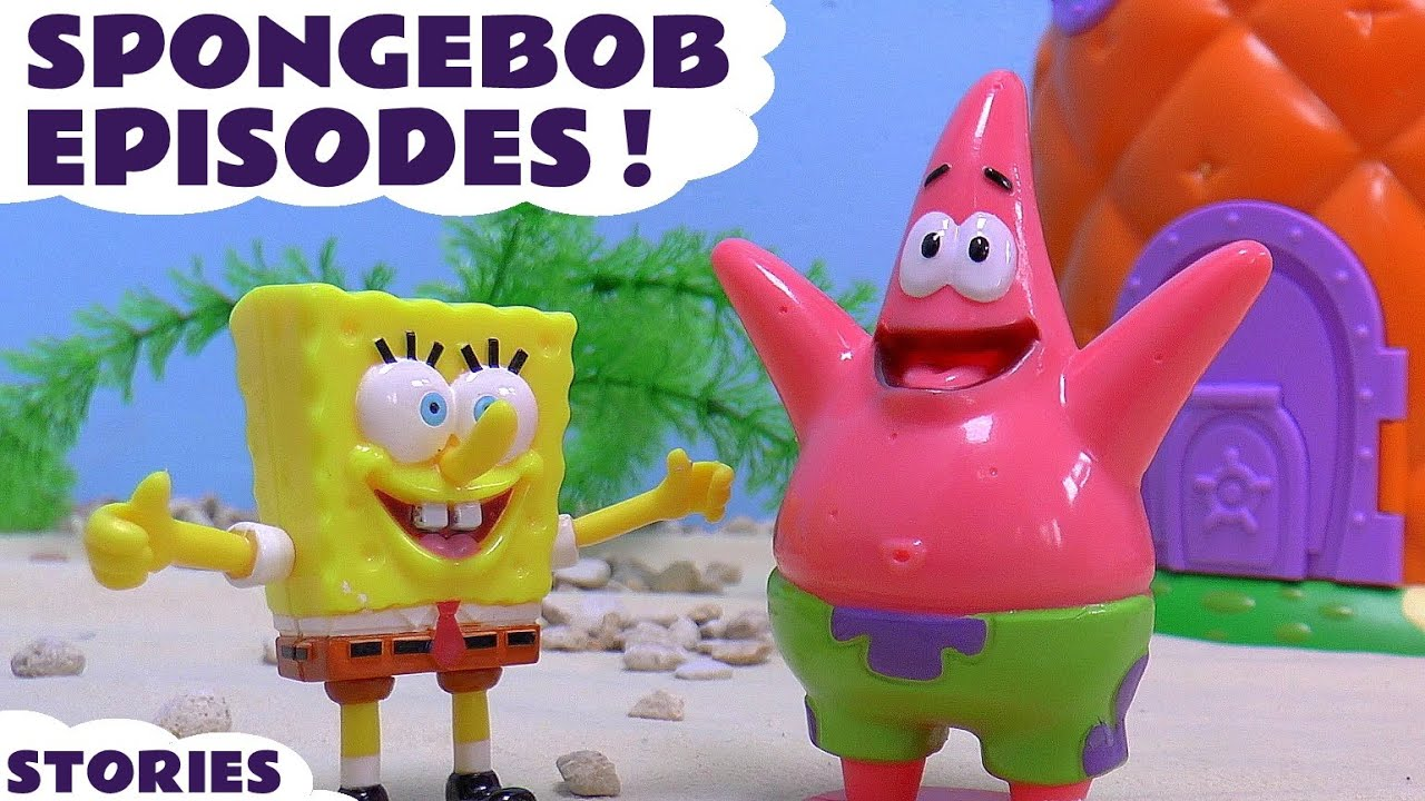 spongebob squarepants toys episodes play doh thomas and friends nickelodeon kinder surprise eggs youtube