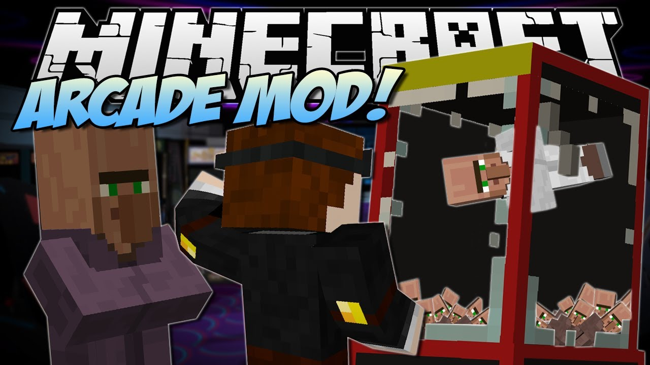 Minecraft Arcade Mod Claw Machines Prizes More Mod Showcase Youtube