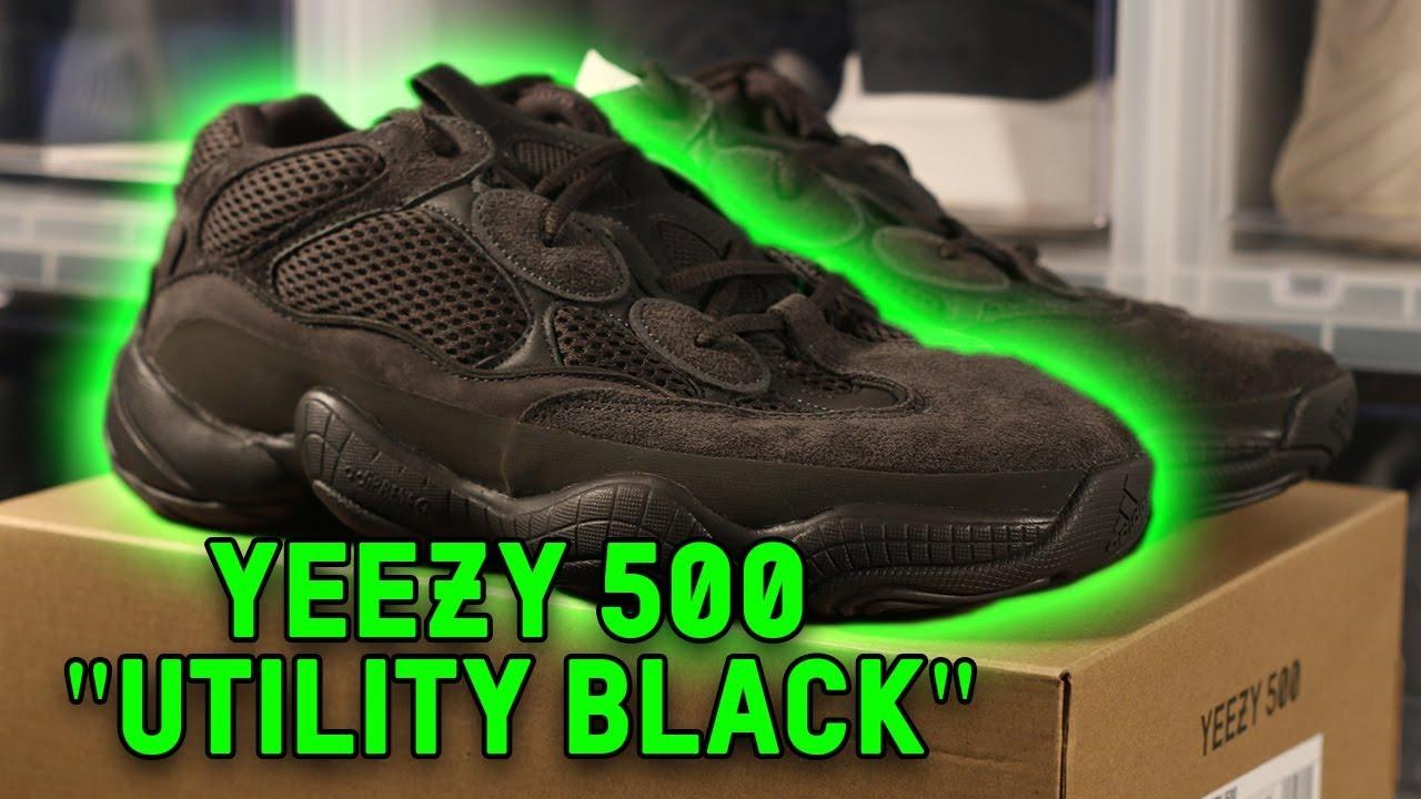 8124d6edbfa YEEZY 500 UTILITY BLACK REVIEW UNBOXING!!! - YouTube