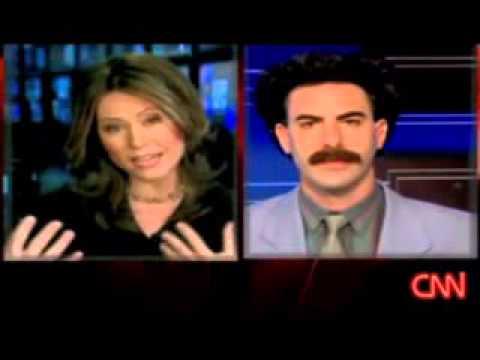 Borat interviewed on CNN in 2006