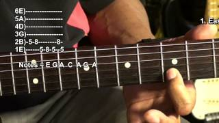 Quik Licks Lesson #6 Easy SRV Clapton Riffs Guitar Tutorial Lesson EBMTL HD