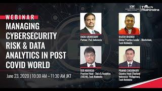 Managing Cybersecurity Risk \u0026 Data Analytics in Post Covid World