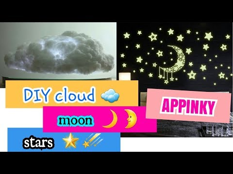 DIY CLOUDS☁ MOON🌙 STARS 🌟 || DECOR ROOM || APPINKY