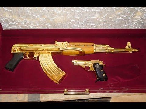 Журналисты нашли золотой автомат Хусейна / Автомат Калашников из чистого золота Интересные факты