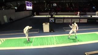 FE M F Individual Leipzig GER World Championships 2017 T08 02 green SHIKINE JPN vs FOCONI ITA