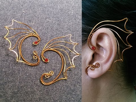 How To Design Dragon Wings Earcuff Diy Wire Jewelry 244