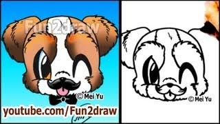 SCHNAUZER Welpen - How to Draw Cute Cartoon-Hund