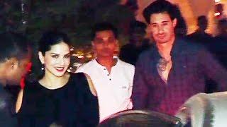 Sunny Leone With Husband Daniel LATE NIGHT Dinner Date