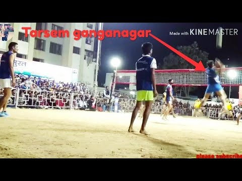Part 2 Tarsem ganganagar vs Arun up all India shooting volleyball tournament at surat, Gujarat