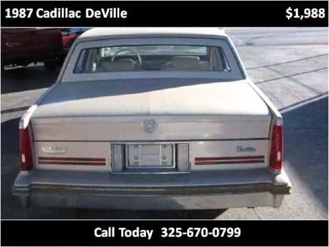 1st Choice Motors >> 1987 Cadillac Deville Available From 1st Choice Motors
