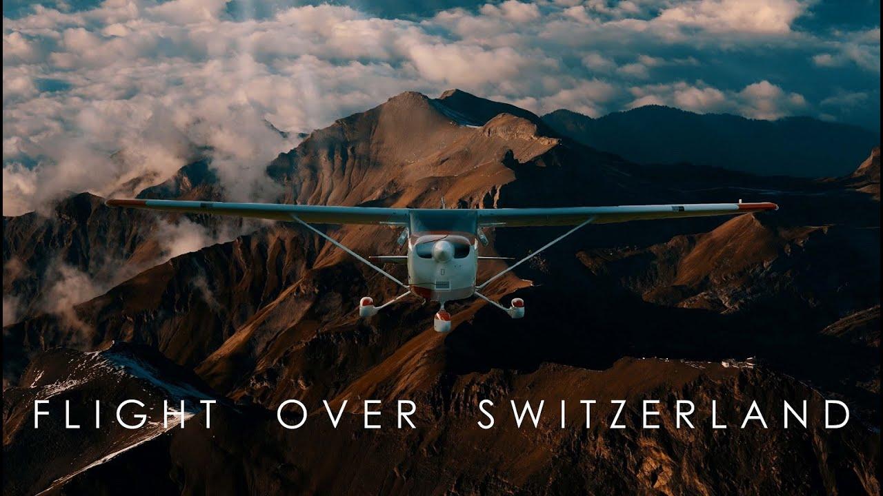 Flight over Switzerland