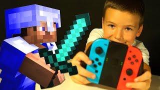МИНИ ИГРЫ 🎯 МАЙНКРАФТ Кока с Родителями НУБик NINTENDO SWITCH Minecraft Нуб с ВЕБКОЙ