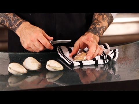 How to Clean & Open Clams | Fish Filleting