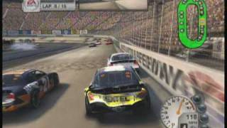 Nascar 08- Bristol Motor Speedway with a pretty bad crash