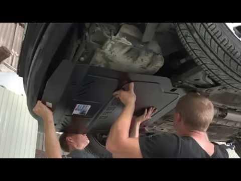 Установка защиты двигателя Кольчуга на Chevrolet Lacetti Шевроле Лачетти