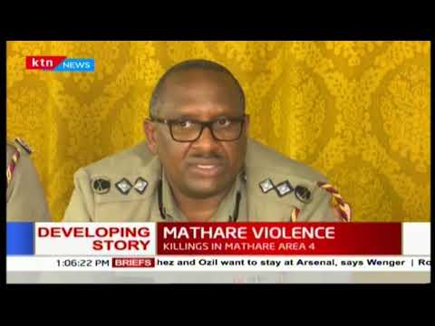Police Commander Japheth Koome links political leaders behind the spark of riots in Mathare