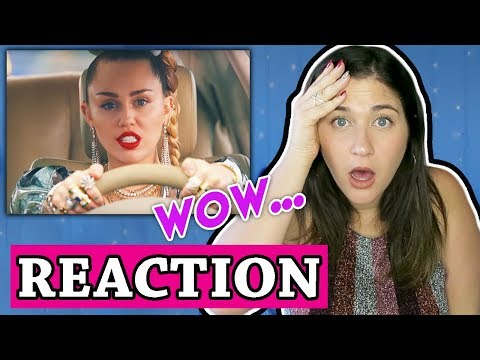 Miley Cyrus, Mark Ronson - Nothing Breaks Like a Heart (Official Video) | REACTION