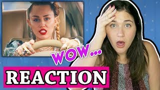 Miley Cyrus, Mark Ronson - Nothing Breaks Like a Heart (Official Video) | REACTION Video