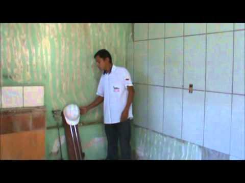 Azulejo cer mica em parede pintada youtube - Alicatar encima de azulejos ...