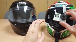 ridingwithjace ep 3 mounting gopro mount on agv k5 with sugru