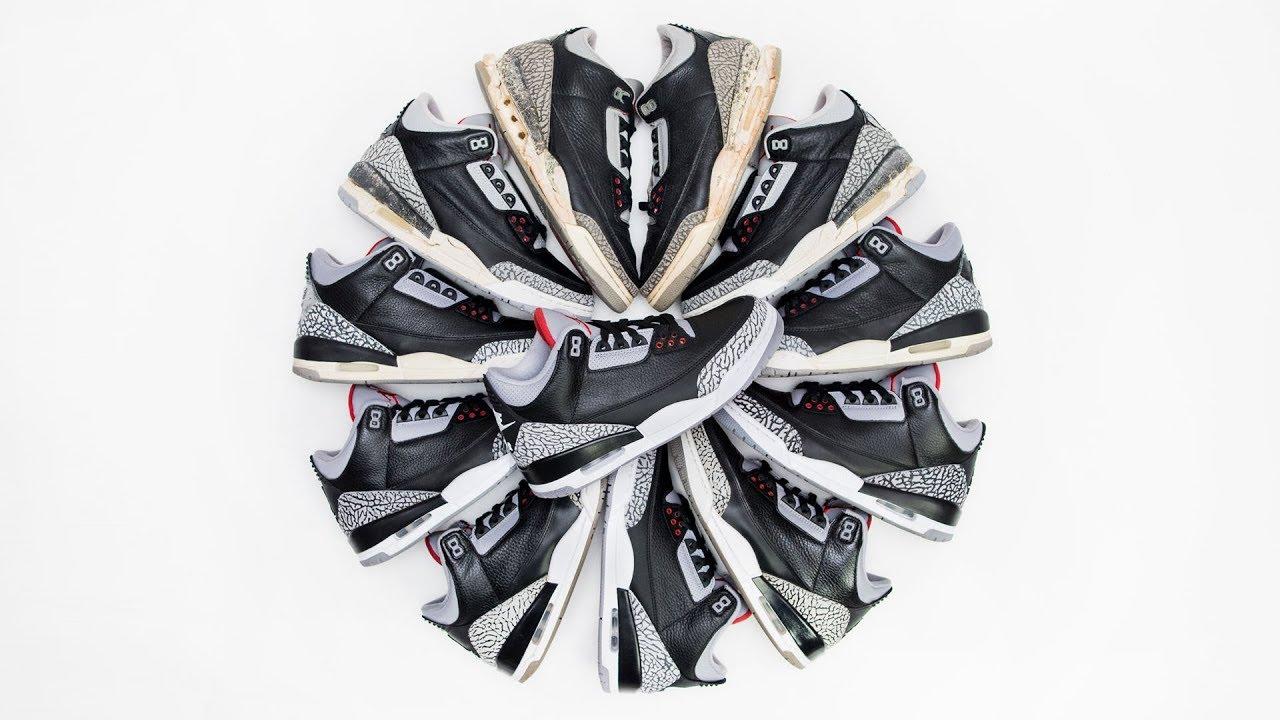 475a19d89fc 2018 Air Jordan Black Cement 3! Review & Comparison 1988, 1994, 2001, 2008  & 2011 OG & Retros