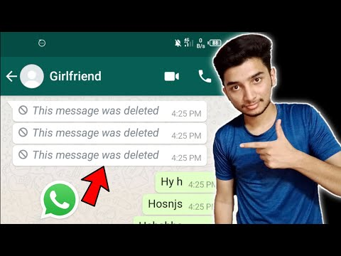 How to see deleted messages from whatsapp - Recover deleted whatsapp messages Android