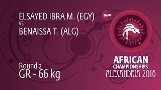 Round 2 GR - 66 kg: M. ELSAYED IBRA (EGY) df. T. BENAISSA (ALG), 0-0