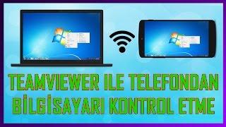 TELEFONDAN/TABLETTEN BİLGİSAYARI YÖNETME (Teamviewer) (Anlatımlı)