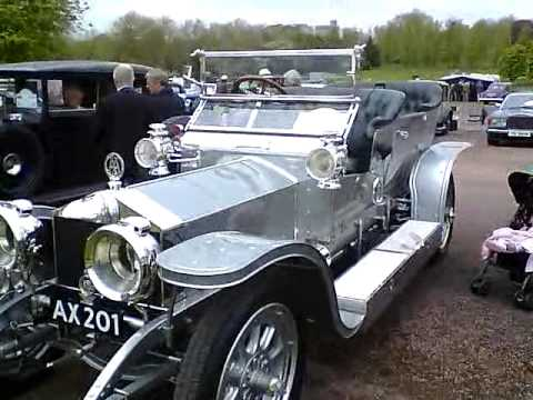 rolls royce car rally windsor 1907 silver ghost youtube. Black Bedroom Furniture Sets. Home Design Ideas
