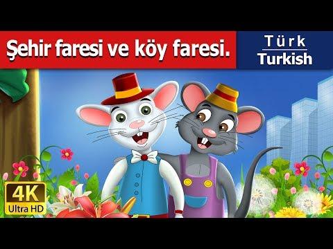 Şehir faresi ve köy faresi - Masal - çoçuk masalları dinle - 4K UHD - Türkçe peri masallar