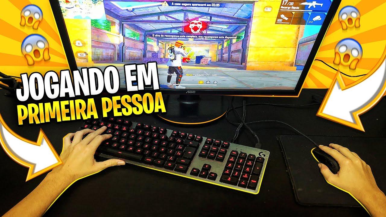 JOGUEI FREE FIRE EM PRIMEIRA PESSOA!! EMULADOR É MAIS FÁCIL?!