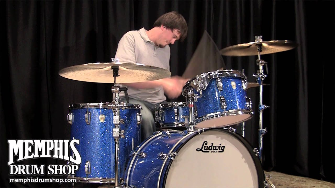 Ludwig Classic Maple Drum Set Blue Glass Glitter Youtube
