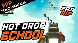 HOT DROP AT SCHOOL! FPP Solo vs. Squads - PUBG Mobile