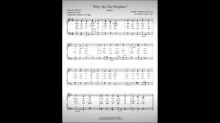 Why Do the Peoples?--Psalm 2