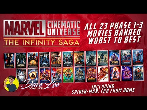 Marvel MCU INFINITY SAGA - All 23 Movies Ranked Worst to Best (including ENDGAME & FAR FROM HOME)