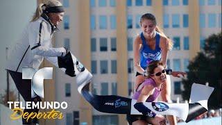 Gesto solidario causa polémica en el maratón de Dallas   Videos Virales   Telemundo Deportes