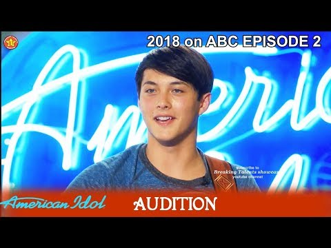 Laine Hardy From Louisiana Sings BAD*SS Country Song Audition American Idol 2018 Episode 2