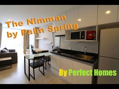 PALM SPRINGS NIMMAN ( FOUNTAIN ) - Chiang Mai Condo walk through