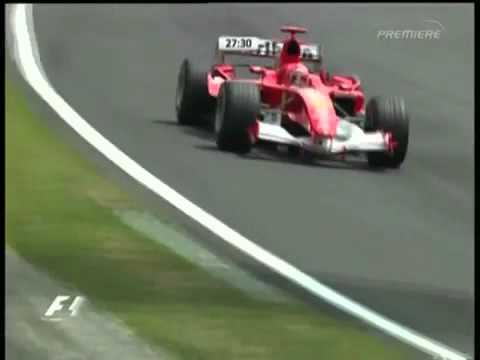 F1 Brazil 2005 FP4   Michael Schumacher Action!