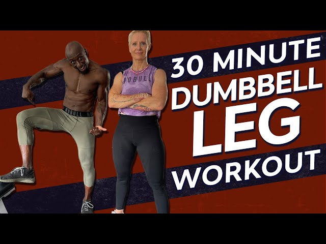 30 Minute Lower Body Dumbbell Workout - Glutes, Quads, Hamstrings, Calves, Power