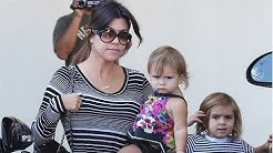 Kourtney Kardashian Is Super Cute In Stripes As She Shops With Her Adorable Little Ones [2013]