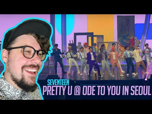 Mikey Reacts to  SEVENTEEN(세븐틴) - 예쁘다 (Pretty U) SEVENTEEN WORLD TOUR [ODE TO YOU] IN SEOUL