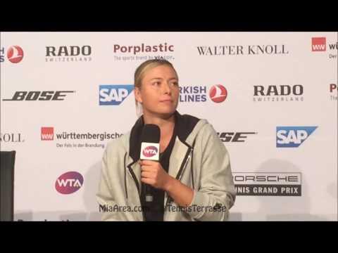 Maria Sharapova press conference after SF at Porsche Tennis Grand Prix 29.04.17
