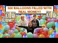 POPPING 500 BALLOONS FULL OF REAL MONEY! 🤑 EPIC BALLOON TREASURE HUNT CHALLENGE! FUN VIDEO FOR KIDS