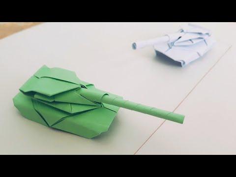 Tank yasash. Qog'ozdan TANK qanday yasaladi