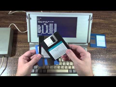 ИТ-музей: советский лептоп Электроника МС 1504 выпуска 1993, клон Toshiba T1100 1985г. ;)