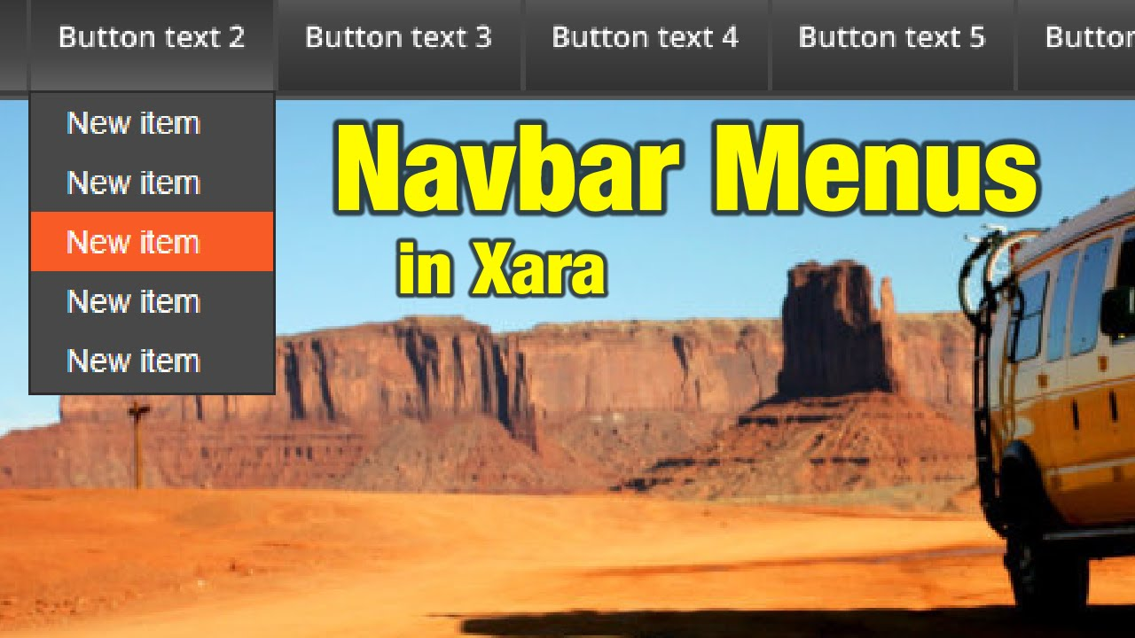 Navbar Design: Navbar Menu Tutorial For Xara Web Designer / Designer Pro