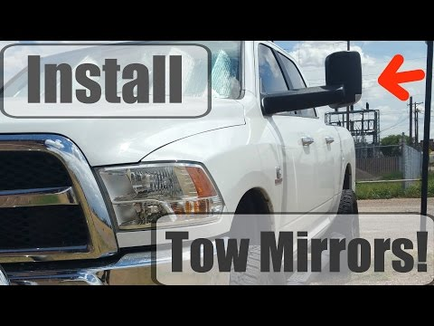 Dodge Tow Mirrors Review/Install for 2013-2016 Ram